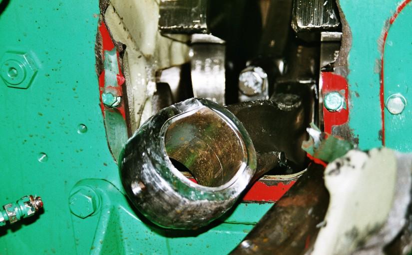 Maschinenbruch an einem Dieselmotor