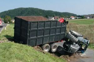 unfall traktor